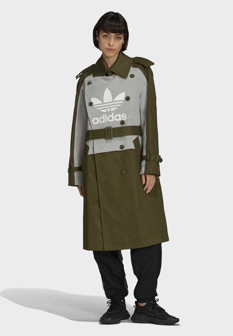 adidas Originals - Dry Clean Only xTRENCH COAT - Classic coat - wild pine