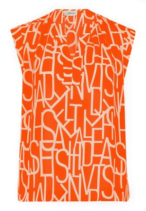 Blouse - orange/white