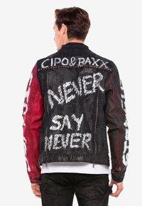 Cipo & Baxx - MIT NIETEN - Denim jacket - black - 2