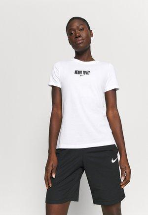 DRY TEE BBALL - T-Shirt print - white