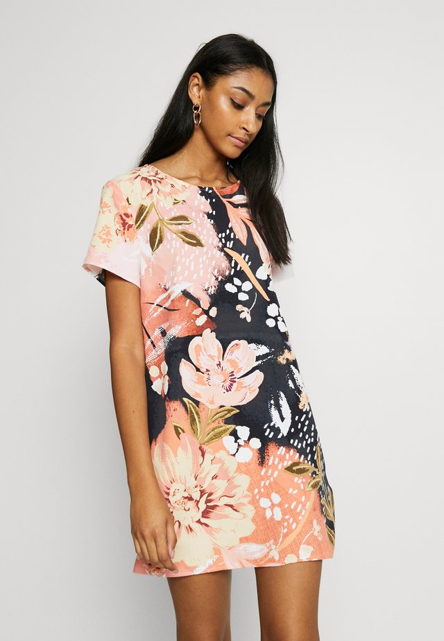 FLORAL TEE DRESS - Korte jurk - multi-coloured