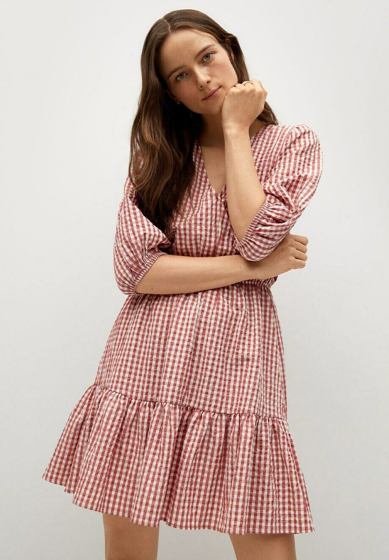 Mango - Vestido informal - rouge