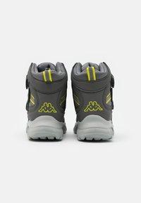 Kappa - SUPERCAL TEX UNISEX - Hiking shoes - grey/lime - 2