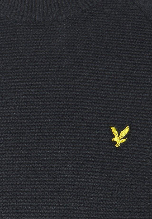 RAGLAN TEXTURE JUMPER - Sweter - dark navy