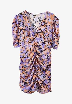 Shift dress - mottled purple