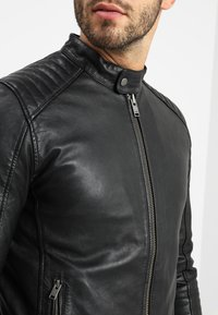 Selected Homme - RACER - Skinnjacka - black - 4