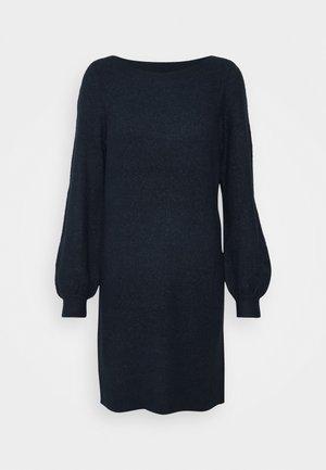 VMLEFILE BALLOON BOATNECK DRESS - Strikket kjole - navy blazer
