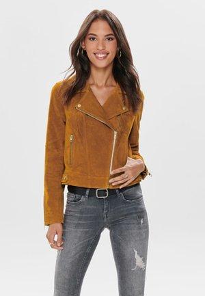 Leather jacket - honey ginger