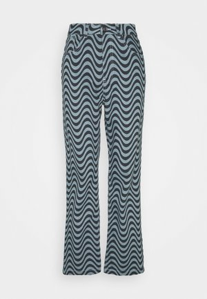 WAVE PRINT DAD - Jeans straight leg - blue