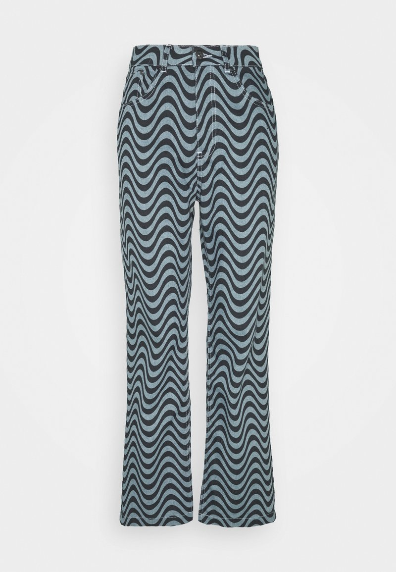 The Ragged Priest - WAVE PRINT DAD - Straight leg jeans - blue