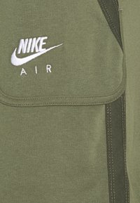 Nike Sportswear - AIR - Tracksuit bottoms - medium olive/cargo khaki/white - 5