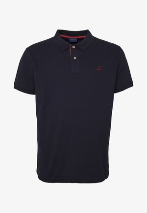 PLUS CONTRAST COLLAR RUGGER - Poloshirts - evening blue