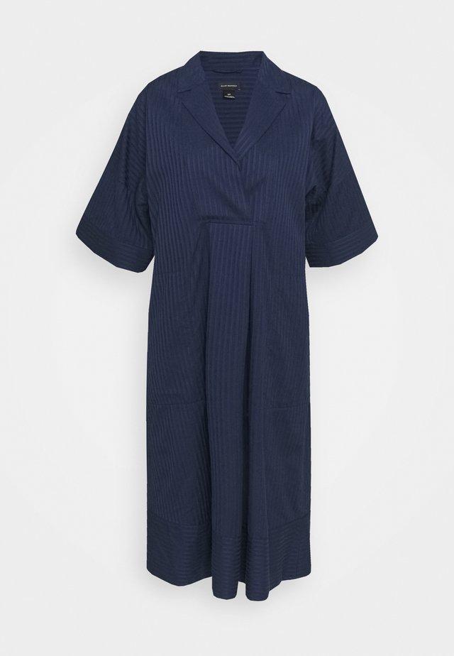 TEXTURED SHIRT DRESS - Sukienka letnia - navy
