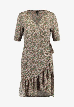 VMAMELIA WRAP DRESS - Jerseykjole - tortoise shell