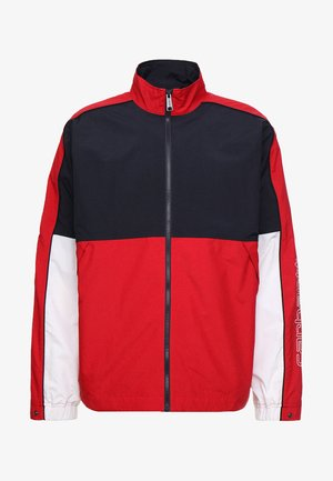 Training jacket - dark navy/cardinal/white