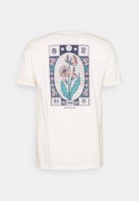 Kaotiko - WASHED JAPANES FLOWER IVORY - Print T-shirt - ivory - 1