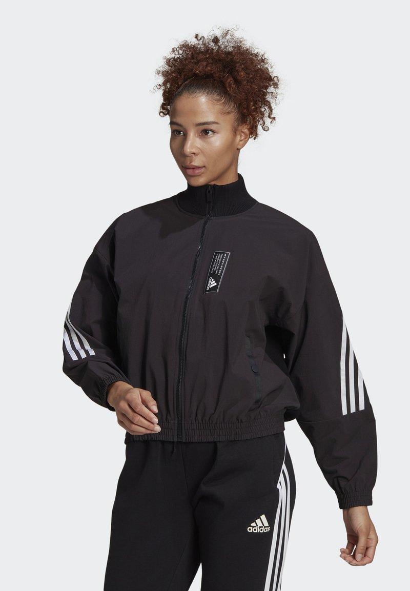 adidas Performance - ADIDAS SPORTSWEAR AEROKNIT TRACK TOP - Chaqueta de entrenamiento - black