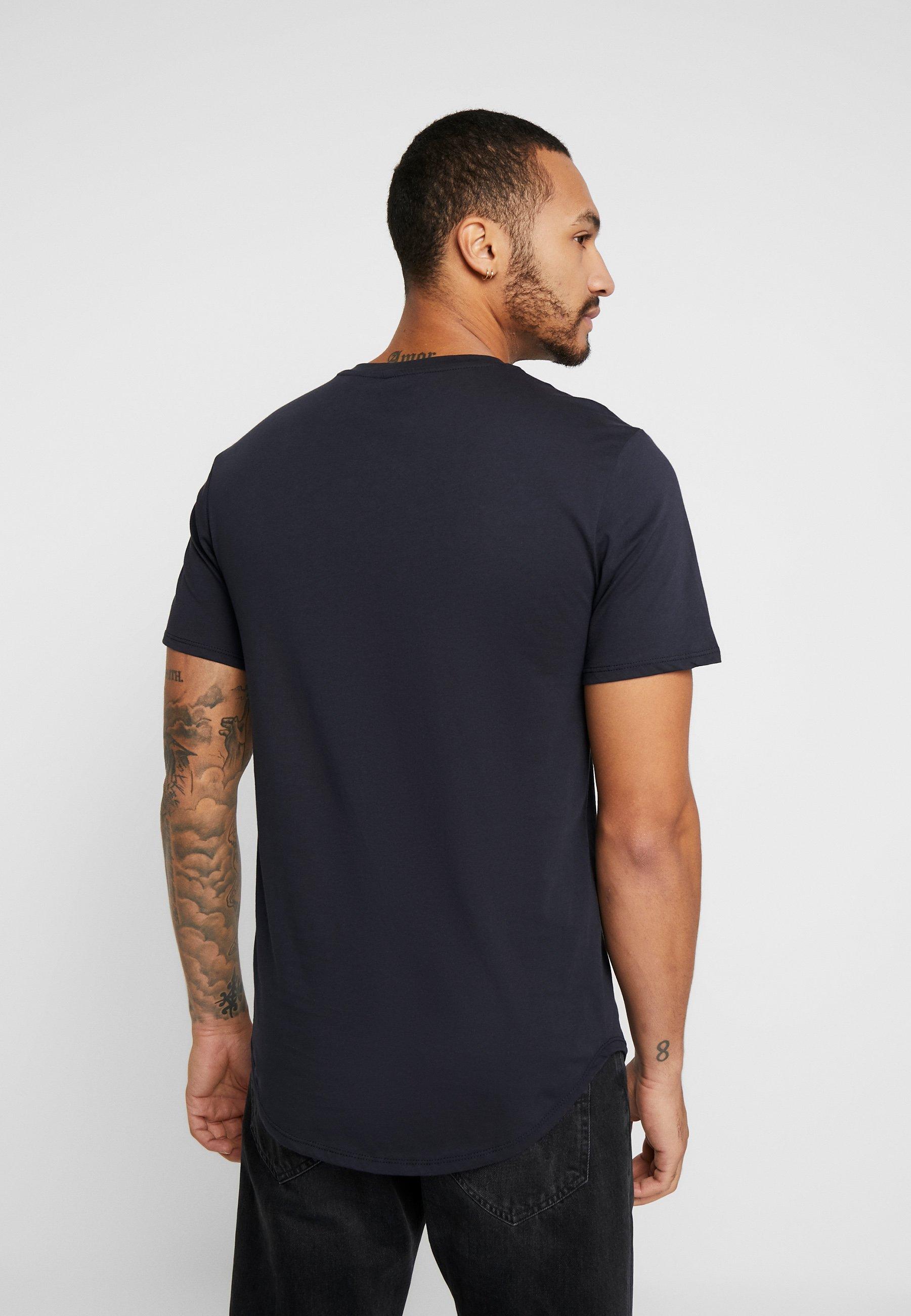Only & Sons ONSMATT LONGY 2 PACK - Basic T-shirt - dark navy PAtY8