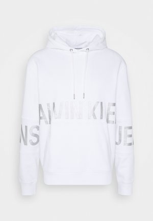 BLOCKING LOGO HOODIE UNISEX - Sweat à capuche - bright white