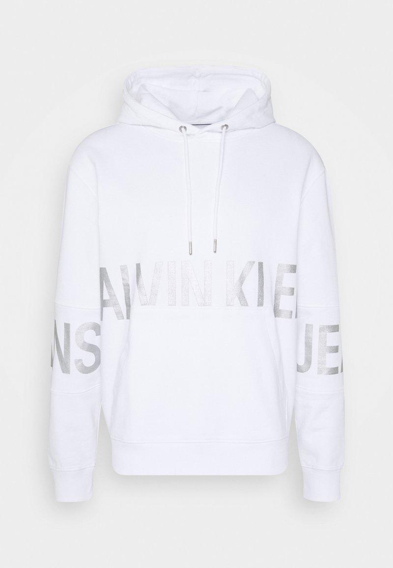 Calvin Klein Jeans - BLOCKING LOGO HOODIE UNISEX - Hoodie - bright white