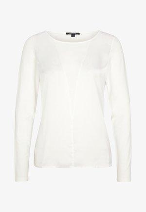 MIT SATIN-FRONT - Blouse - white