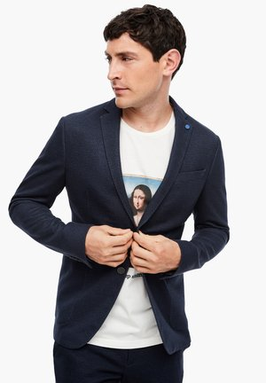 Blazer jacket - dark blue aop