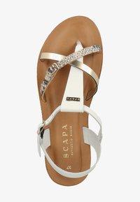 Scapa - SCAPA ZEHENSTEG - Sandals - wit / blanc 100 - 1