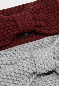 Even&Odd - 2 PACK - Ear warmers - grey/bordeaux - 4