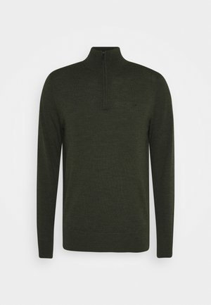 SUPERIOR ZIP MOCK - Jumper - green