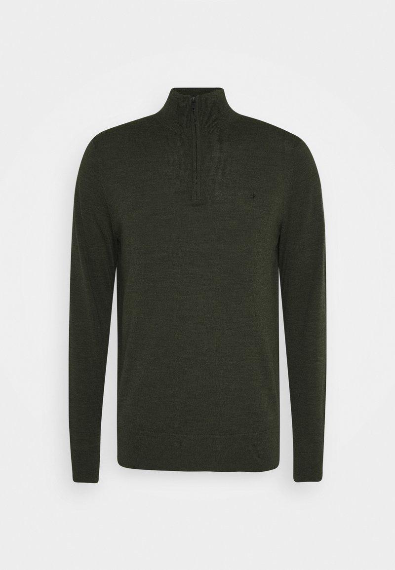 Calvin Klein - SUPERIOR ZIP MOCK - Jumper - green