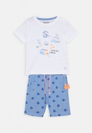 BABY SET - Trainingsbroek - light blue/off white