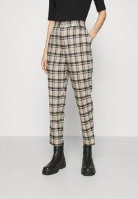 YAS - YASSTORY CROPPED PANT - Kalhoty - sycamore - 0