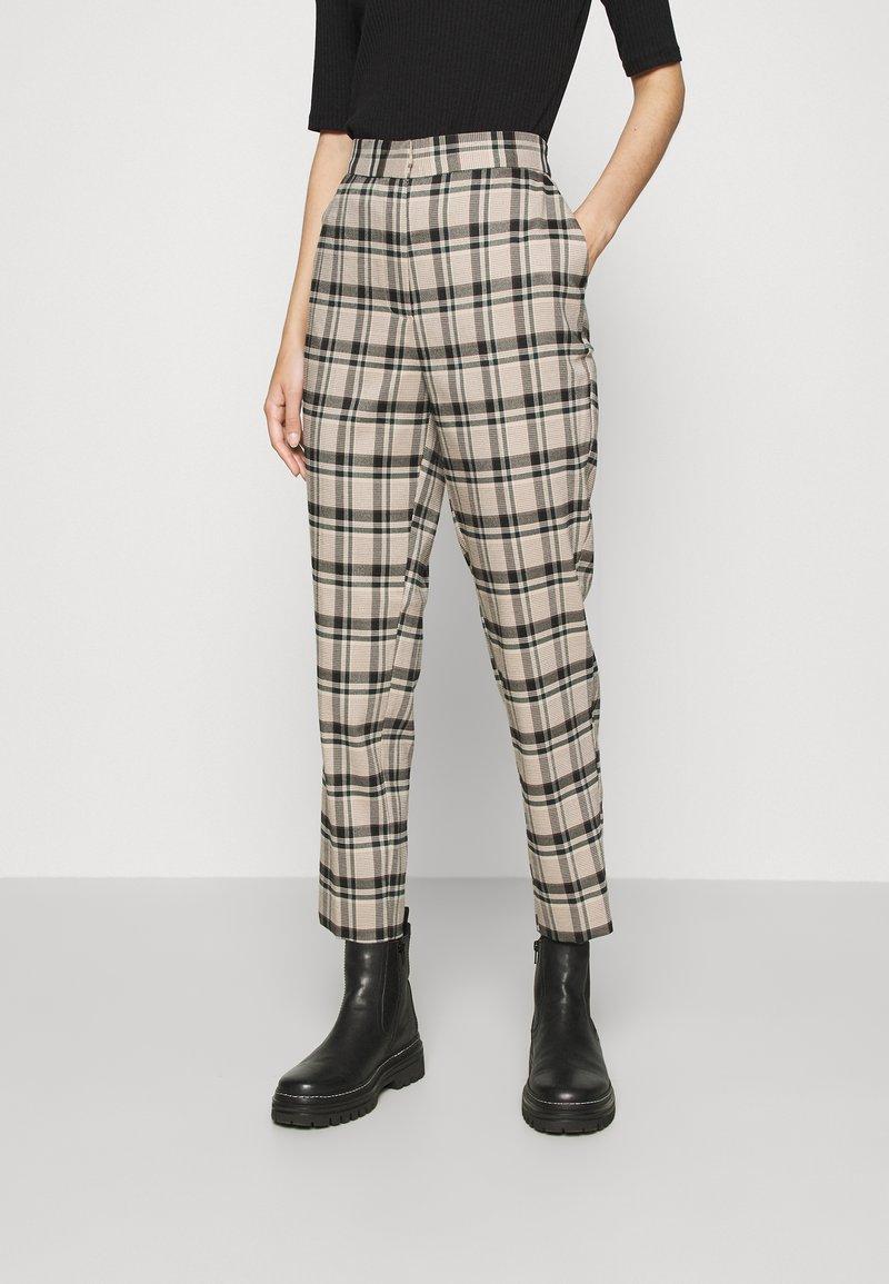 YAS - YASSTORY CROPPED PANT - Kalhoty - sycamore