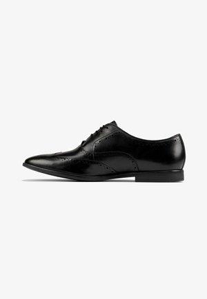 Stringate eleganti - black leather