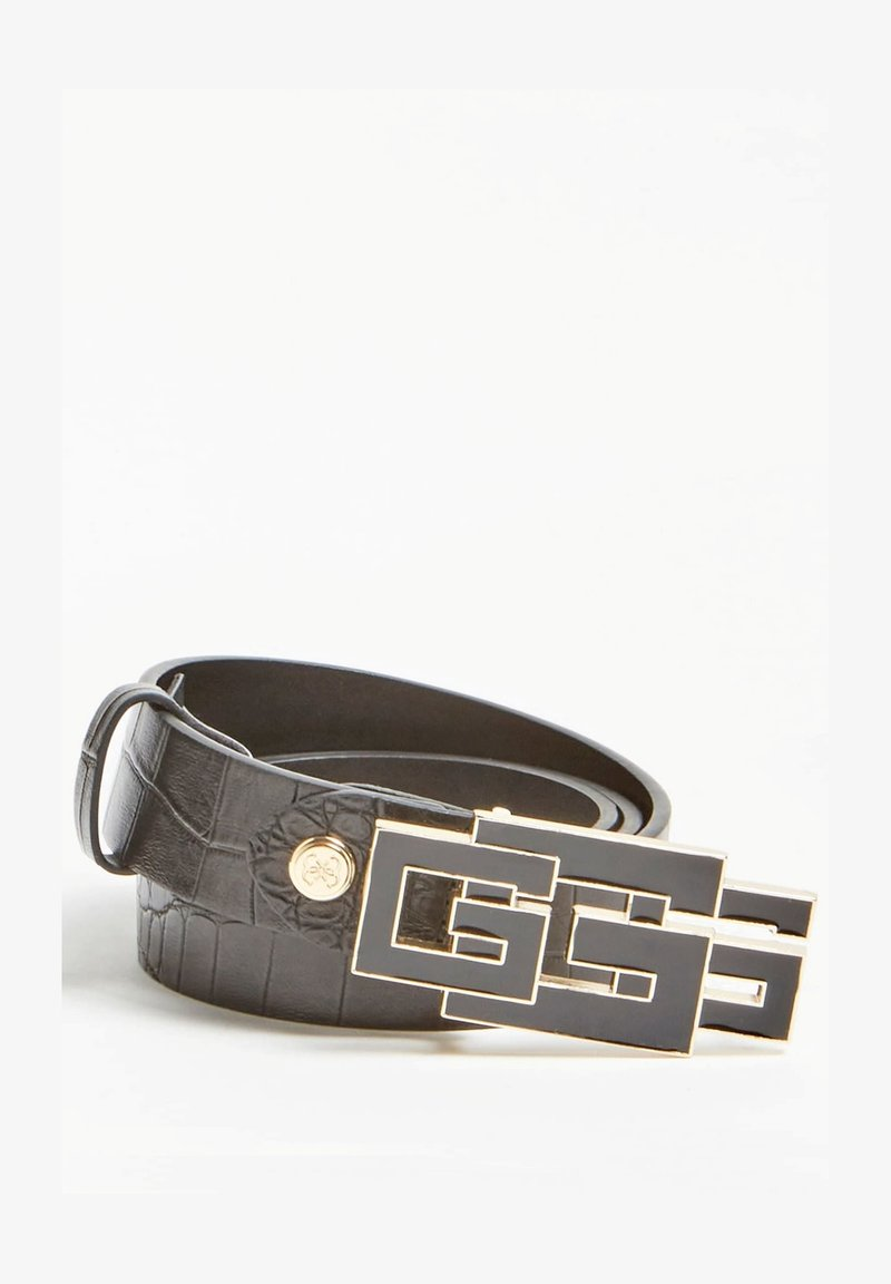 Guess - TRIPLE G-LOGO - Belt - schwarz