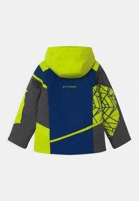 Spyder - CHALLENGER - Ski jacket - dark grey/neon green/blue - 1