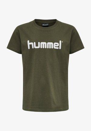 HMLGO KIDS COTTON LOGO S/S - T-shirt z nadrukiem - grape leaf