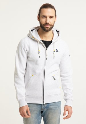 Zip-up hoodie - weiss melange