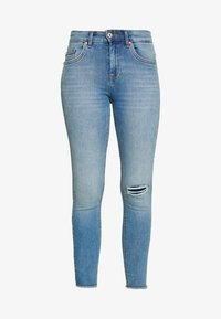 ONLBLUSH MID RAW PIPE ANA - Skinny džíny - medium blue denim