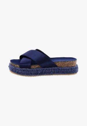 PALMIRRA - Platform sandals - navy blue