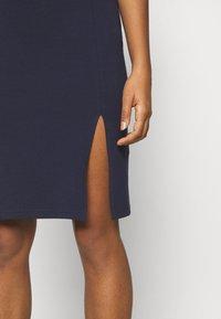 Even&Odd - BASIC - Bodycon mini skirt - Pouzdrová sukně - dark blue - 4