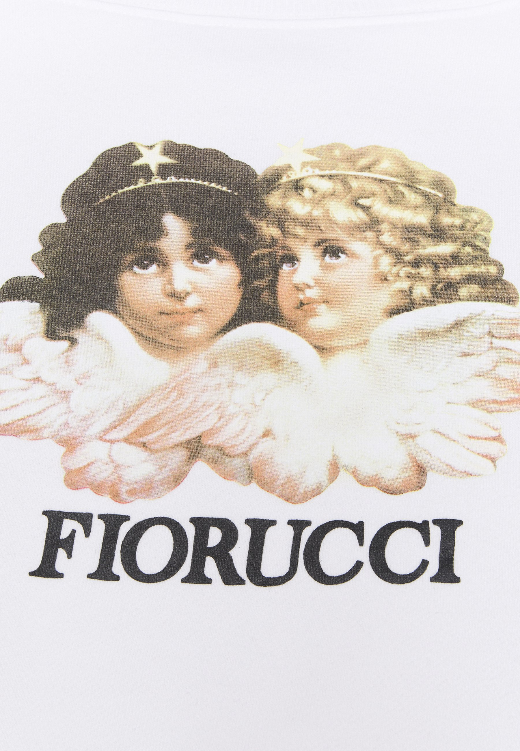Bulk Designs Outlet Store Women's Clothing Fiorucci VINTAGE ANGELS CROPPED  Sweatshirt white 5y5lvz6eD oWhfhydyM