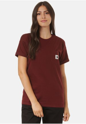 CARRIE POCKET - Print T-shirt - bordeaux