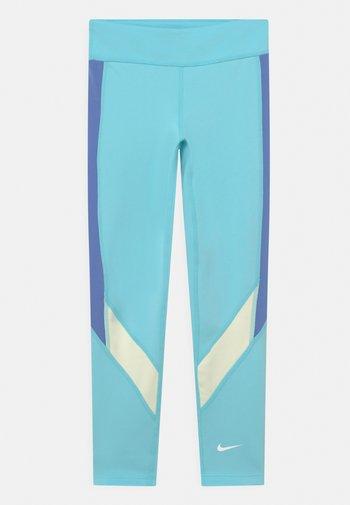 ONE - Leggings - turquoise/white