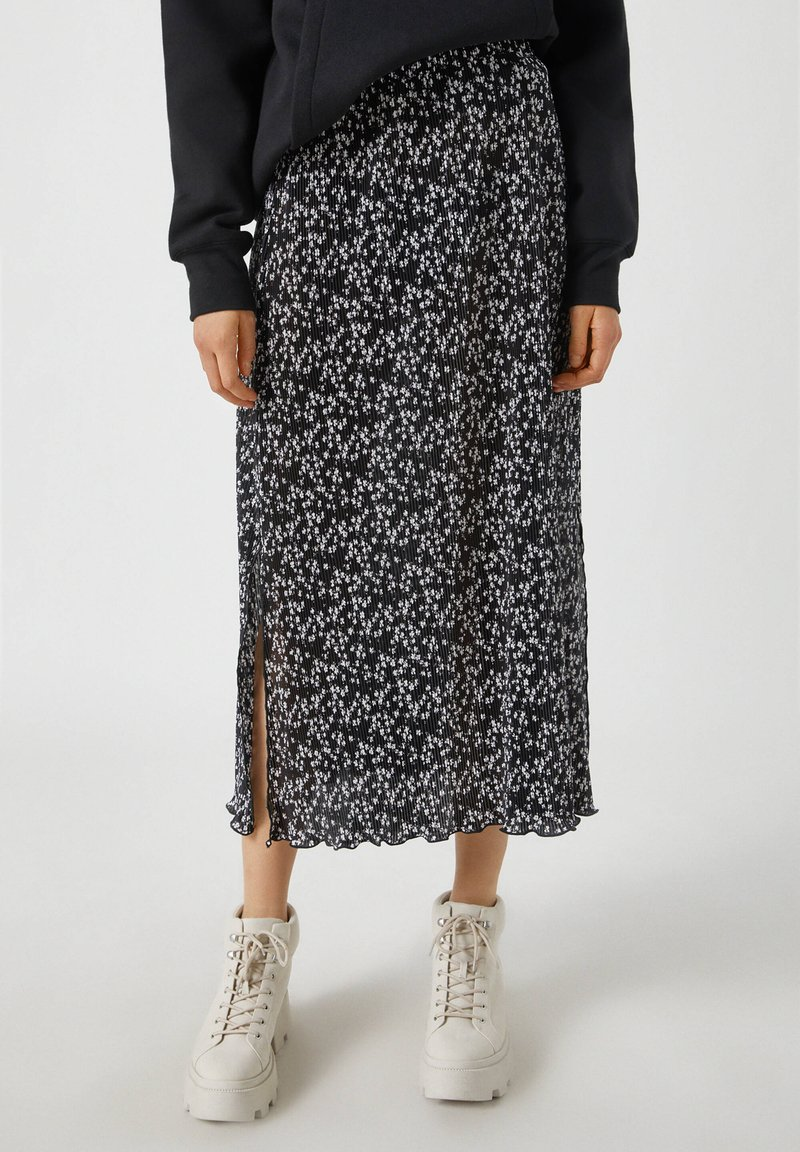 PULL&BEAR - A-line skirt - black