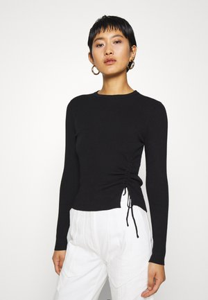 Ruching detail jumper - Trui - black