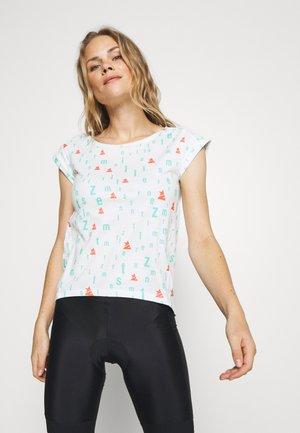 STYLEZ TEE - T-shirt imprimé - white/florida/coral