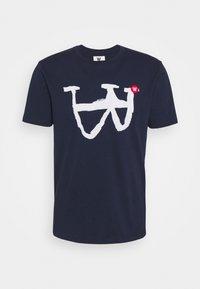Wood Wood - ACE - Print T-shirt - navy - 4