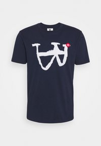 ACE - Print T-shirt - navy