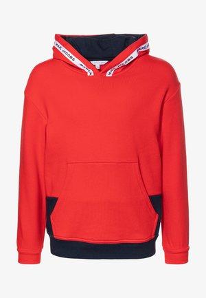 HOODED  - Bluza z kapturem - red/blue navy